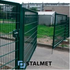 Ворота распашные – 2000*4000. Заборы из сварной сетки