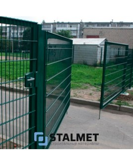 Ворота распашные забора сварной сетки – 1700*3000