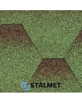 Акваизол Мозаика МИКС Зеленый – гибкая битумная черепица