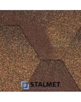 Aquaizol Мозаика МИКС Коричневый – гибкая битумная черепица
